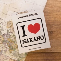 旅屋オリジナル ステッカー I Love NAKANO