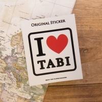 旅屋オリジナル ステッカー I Love TABI