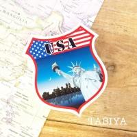 旅屋オリジナル Country Sticker USA/アメリカ